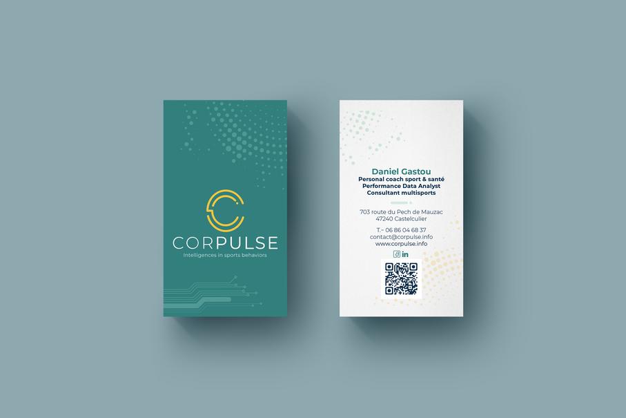 Carte de visite Corpulse vert