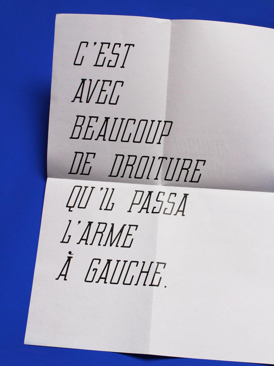 Typographie, Caporal Pierre