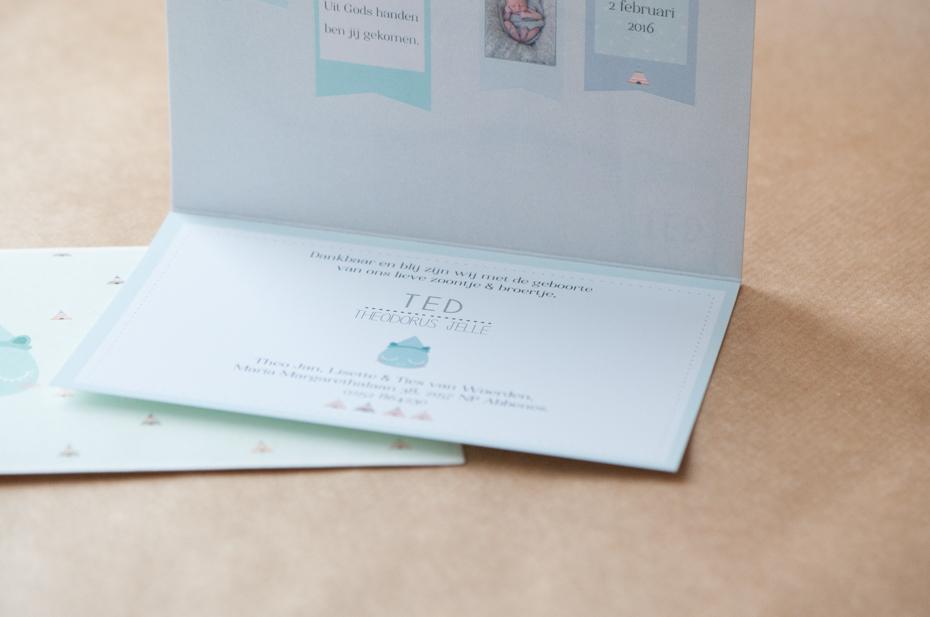geboorte kaartje ontwerp Ted