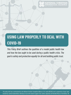 Using Law Properly to Deal with COVID-19 - English
