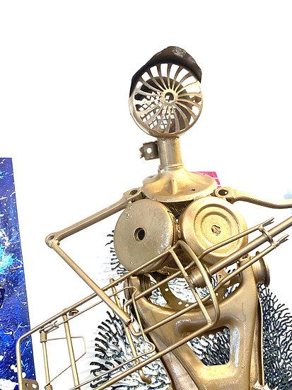 The Golden Guitarman By Atomyox - H 158 cm