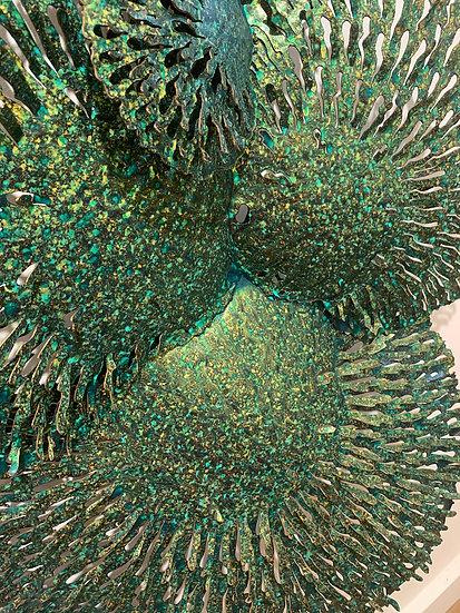 Coral Green Wall-art - 120 x 80 cm
