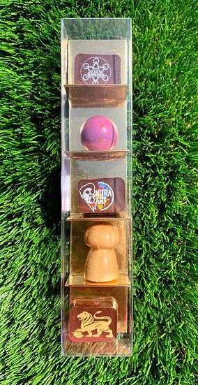 Nitralicious - 5 pralines By Olivier Van Neuten Belgian Master Chocolatier