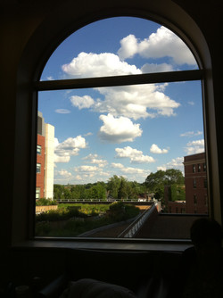 Arched Window View, Madison Hospital