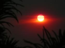 Sunset through Firestorm Haze