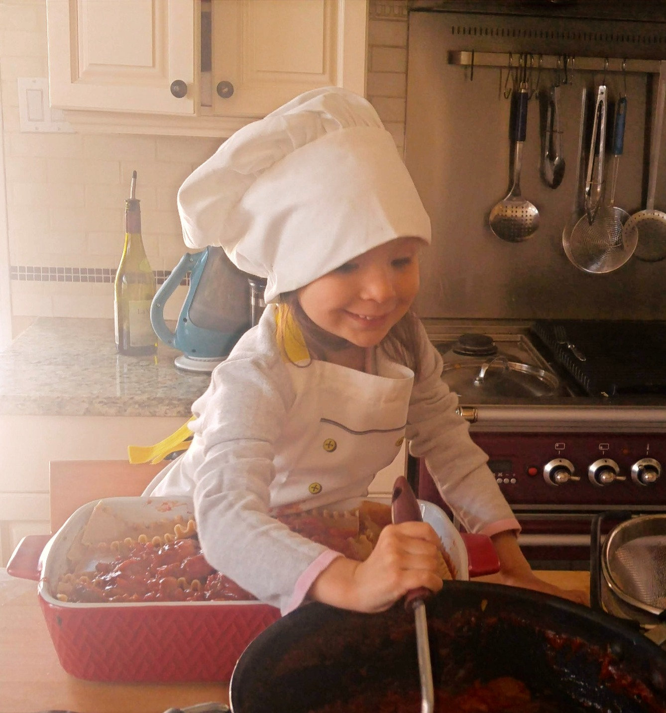 Cooking lesson for young kids