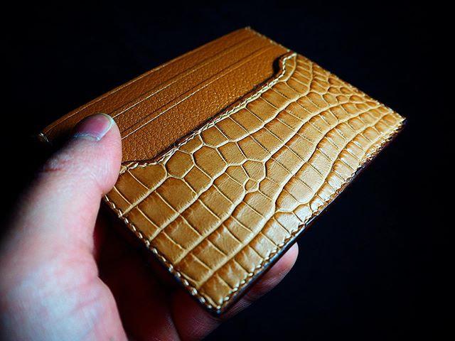鱷魚拼皮單層卡套 ALLIGATOR CARD HOLDER