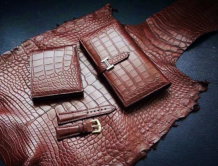 美洲鱷魚皮皮具套裝 ALLIAGTOR WALLET SET