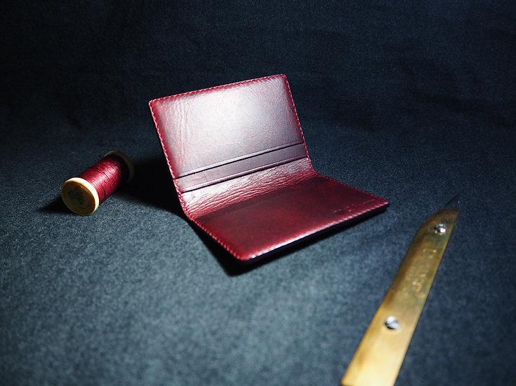 意大利油蠟皮對摺卡套 FLODING CARD HOLDER