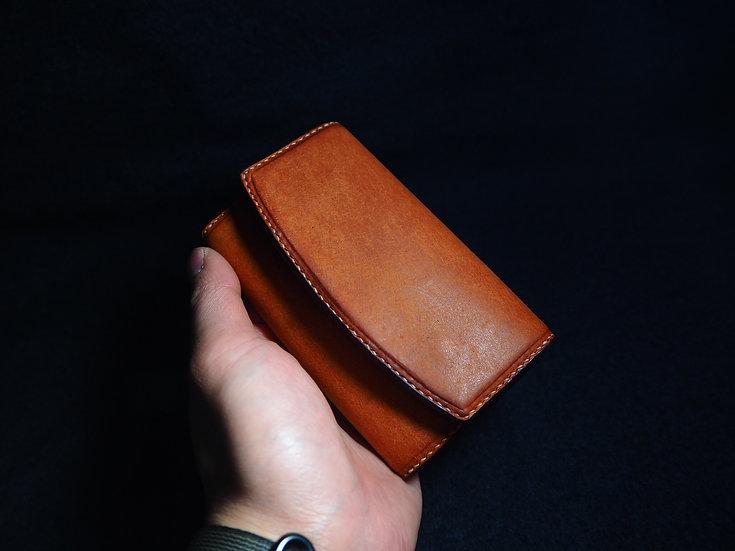 磨沙皮立體卡片盒 BADALASSI PEUBLO LEATHER COIN CASE