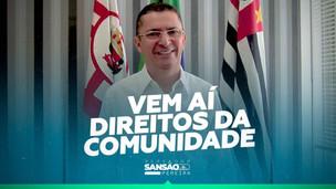 """""""Direitos da comunidade"""" com Sansão Pereira será transmitido no Youtube."""