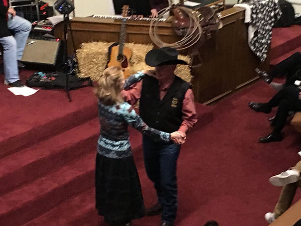 Bob and Becky two steppin at the FBCH Ev