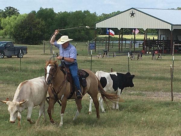 Stephen Tryon roping at Circle D Ranch.j