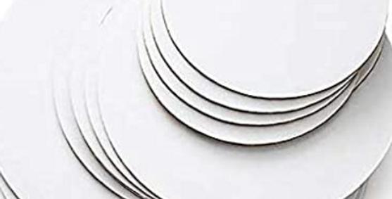 Masonite Cake Boards Round Silver