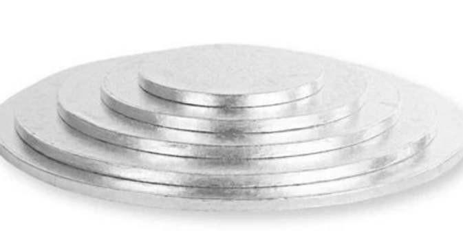 Thick Cake Boards Round Silver