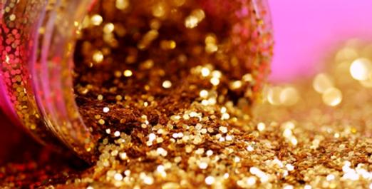 Glitter (for decorating purposes)