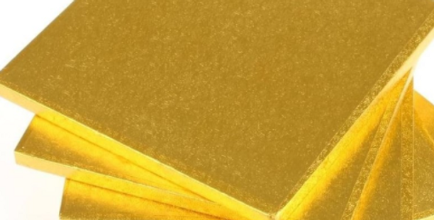 Thick Cake Boards Square Gold
