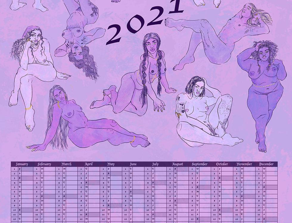 ⋇ 2021 Annual Art Calendar ⋇