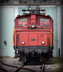 La vieille loco en gare de Payerne