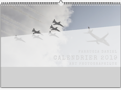 CALENDRIER COLLECTOR 2019 - AVIATION MILITAIRE SUISSE-MAT SATINE