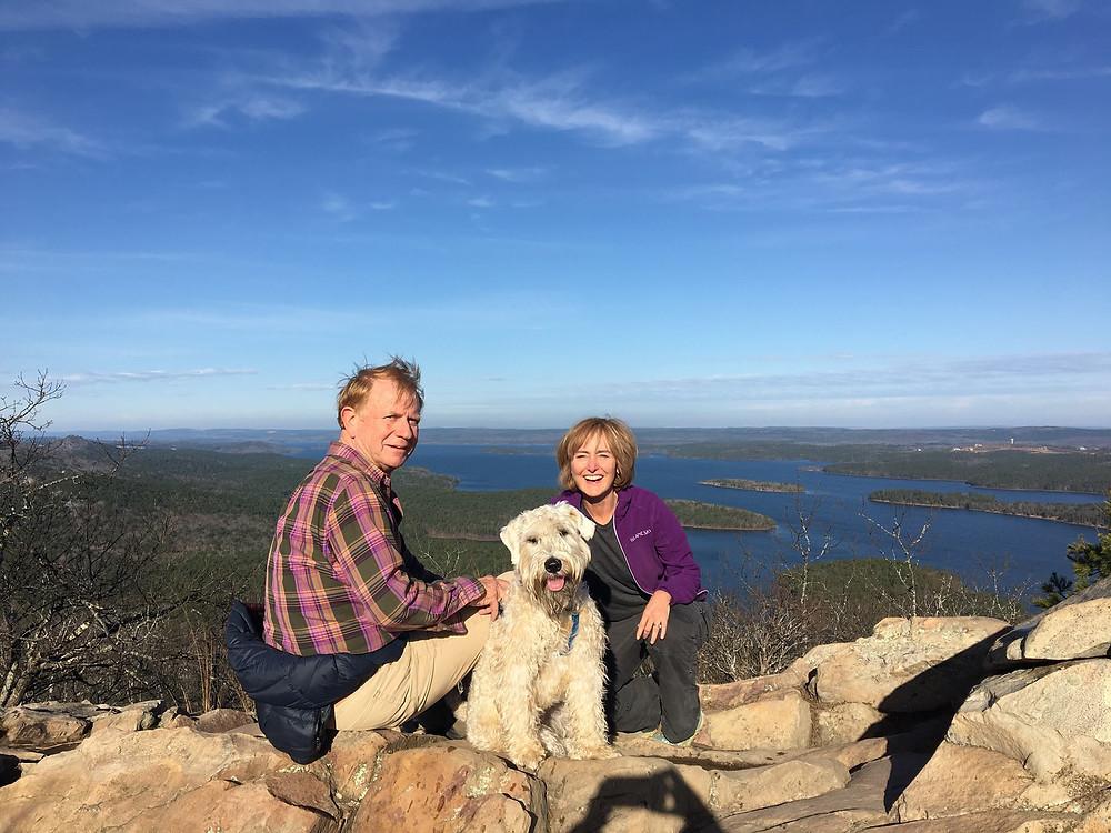 Jill Mark and Harry on Pinnacle Mountain