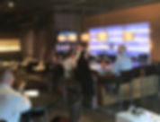 Relaxing in the modern atmoshere at ZIN Wine Bar In the River Market District in Downtown Little Rock AR