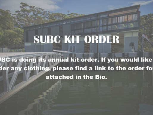 SUBC Clothing Order Form