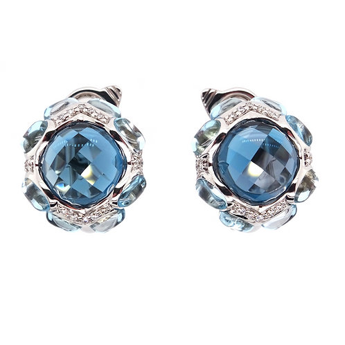 Topaz Briollete Earrings