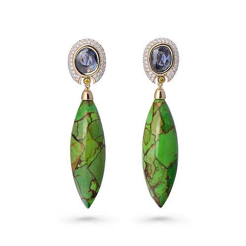18K Gold Moonlit Pines Earrings