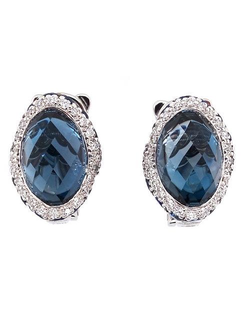 Topaz and Diamond Earrings