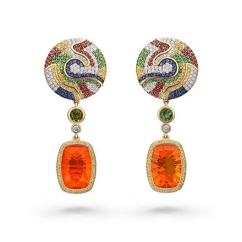 18K Gold Safari Sunrise Earrings