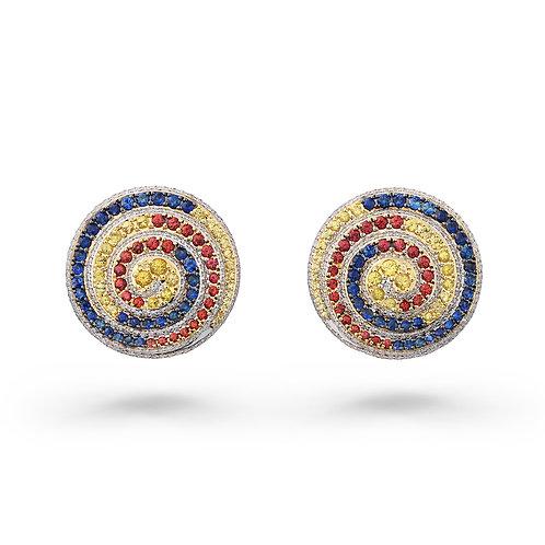 18K Gold Circle of Life Earrings