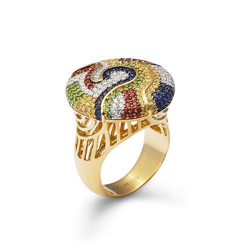 18K Gold Safari Sunrise Ring