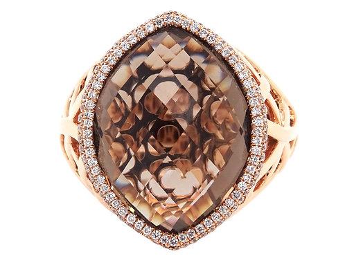 Quartz Briolette Ring