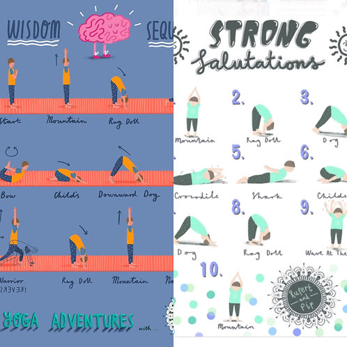 POSTER BUNDLE! (Buy 'The Strong Salutation' AND 'Wisdom Sequence' together).