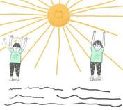The Yoga Adventures of Rupert & Pip stil