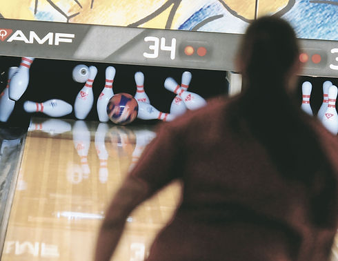 Person Bowling