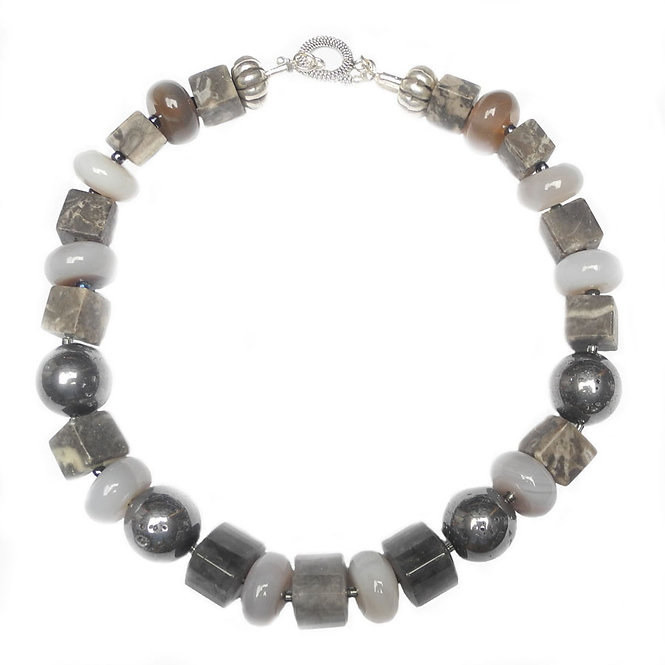 Reach For The Classical Grey Gemstone Necklace, When Nothing Else Will Do