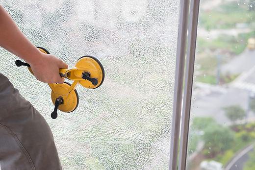 Fixation du verre brisé