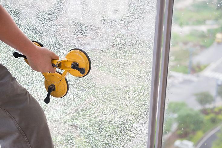 Фиксация разбитого стекла