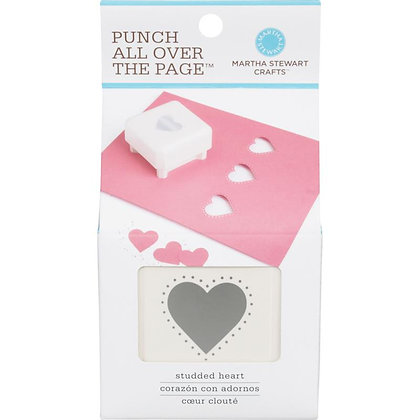 Punch All Over The Page Studded Heart