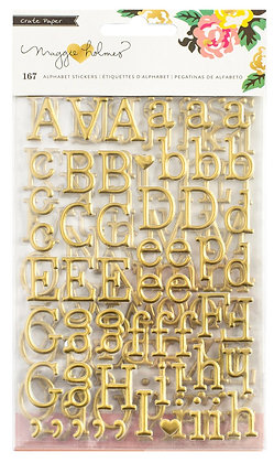 Gold Alphabet Sticker