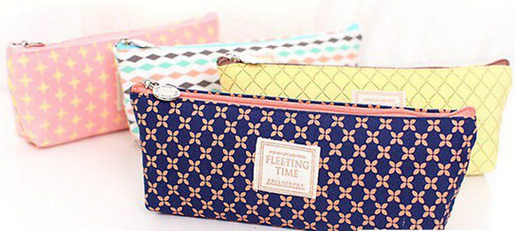 Pattern Fabric Pencil Case