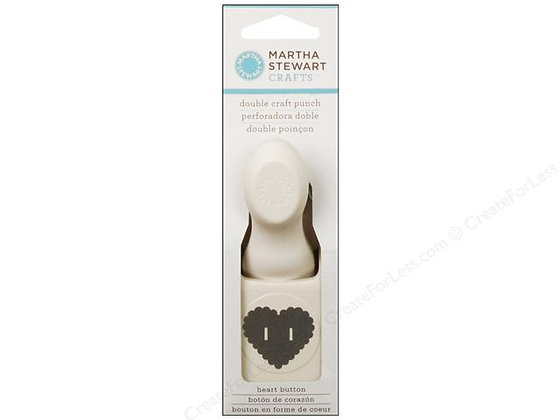 Heart Button Double Craft Punch