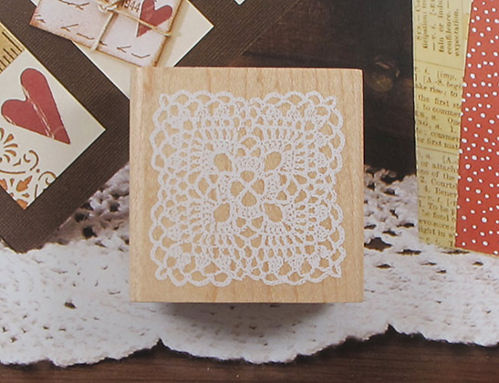 Lace Wooden Stamp