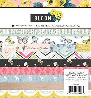 "Bloom paper pad 6*6"""