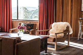 Luxury accommodation Hobart Tasmania living room