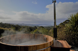 Japanese outdoor hot tub