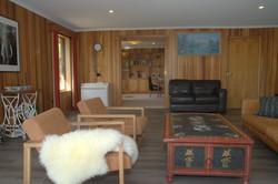 Living room toward library
