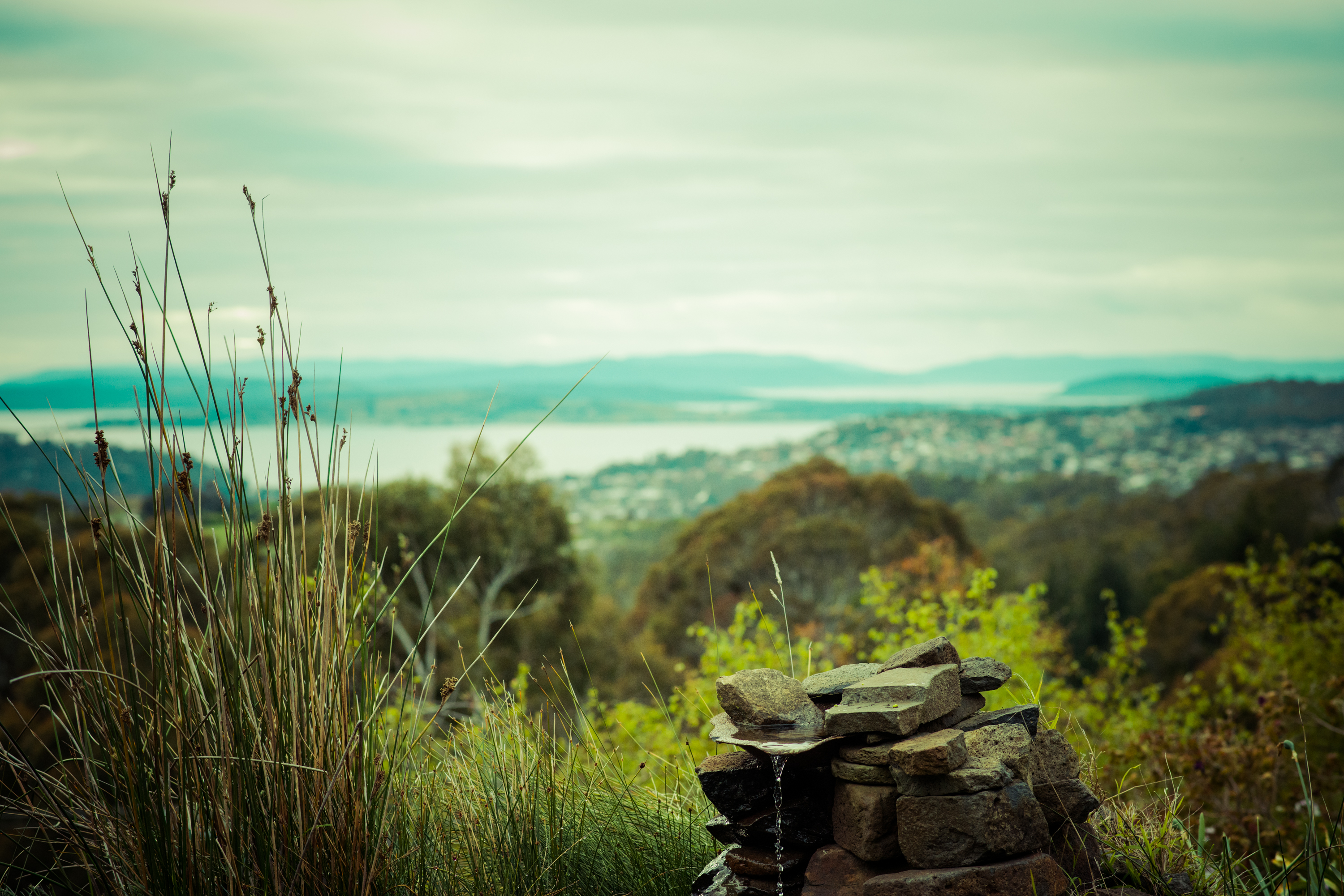 Hobart luxury accommodation view